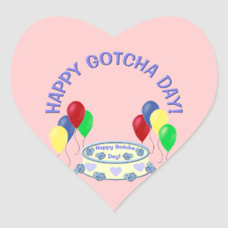 Happy Gotcha Day Heart Sticker