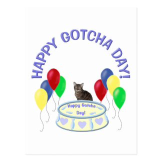 Happy Gotcha Day Kitty Postcard