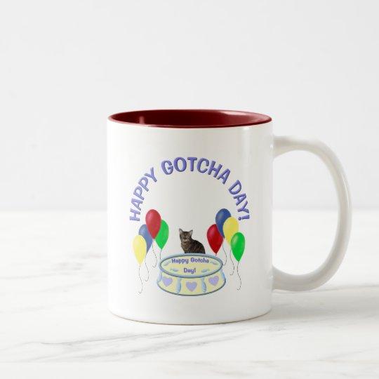 Happy Gotcha Day Kitty Two-Tone Coffee Mug