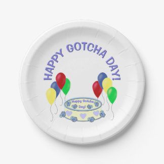 Happy Gotcha Day Paper Plate