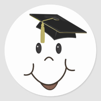 Happy Grad Classic Round Sticker