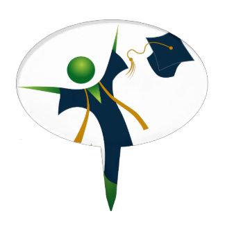 Happy Graduate Stick Figure Icon Cake Topper