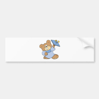 happy graduate teddy bear design bumper sticker