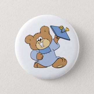 happy graduate teddy bear design button