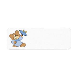 happy graduate teddy bear design return address label