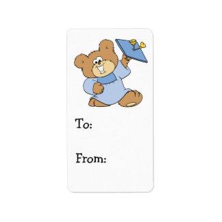 happy graduate teddy bear design address label
