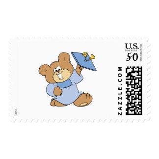 happy graduate teddy bear design postage