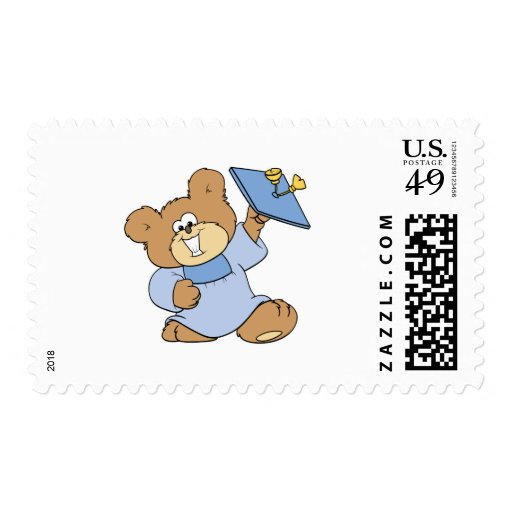 happy graduate teddy bear design stamps