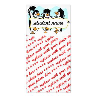 Happy Graduating Dancing Penguins w/Banner Card