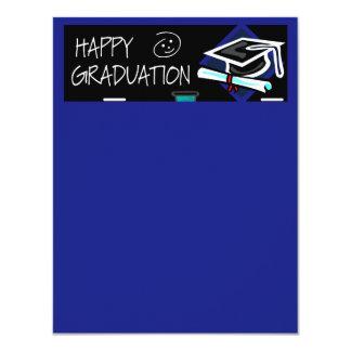 Happy Graduation Chalkboard 4.25x5.5 Paper Invitation Card