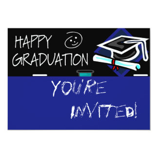 Happy Graduation Chalkboard 5x7 Paper Invitation Card