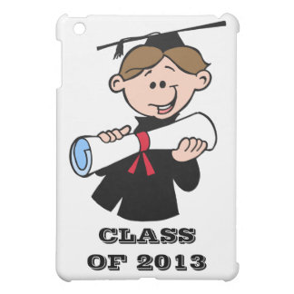 Happy Graduation Class of 2013 Boy With Diploma iPad Mini Cover