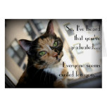 Happy Graduation from Aloof Cat Greeting Card