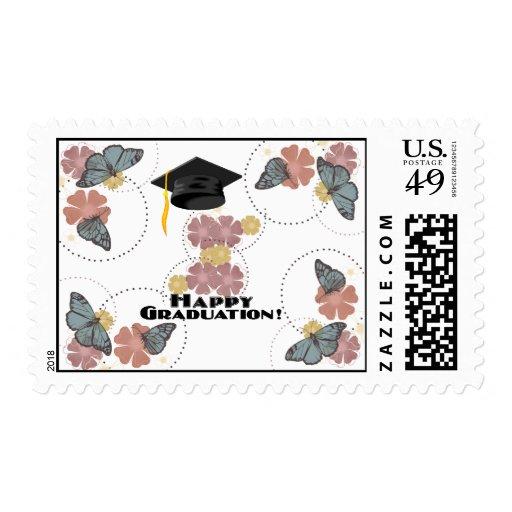 Happy Graduation-Wonderful Butterflies Postage Stamps