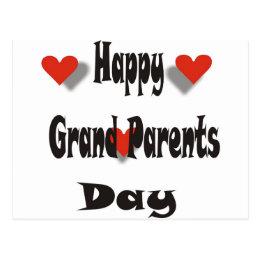 Happy Grand Parents Day Postcard