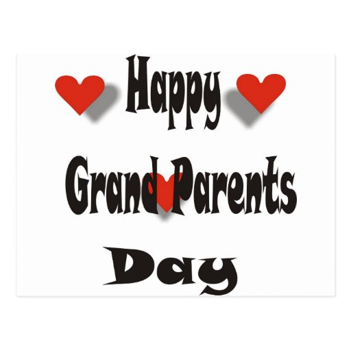 Happy Grand Parents Day Post Card