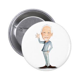 Happy grandpa. Grandfather Button