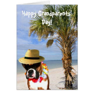 Happy Grandparents' Day boxer greeting card