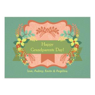 """Happy Grandparents Day Card 5"""" X 7"""" Invitation Card"""