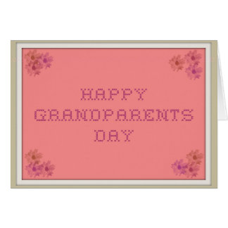 Happy Grandparents Day Cross-Stitch Card