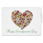 Happy Grandparents Day - Flower Heart Cards
