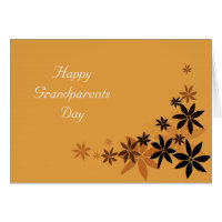 Happy grandparents day golden floral card