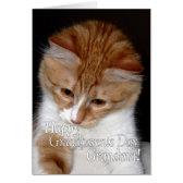 Happy Grandparents Day Grandma Cute Cat Greeting Card