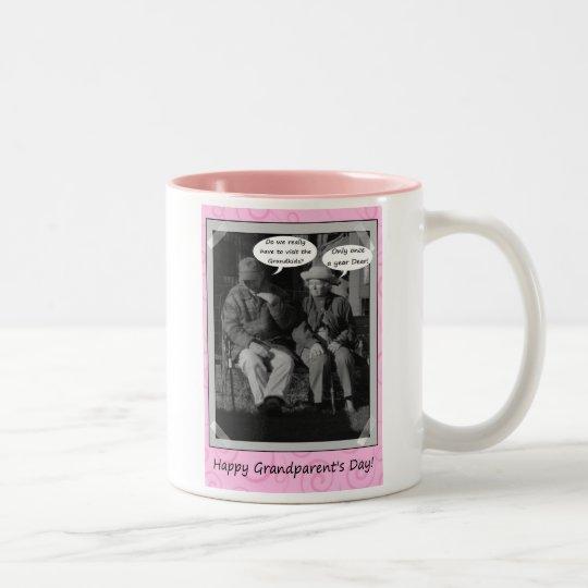 Happy Grandparent's Day Grandma Grandpa Pop Two-Tone Coffee Mug