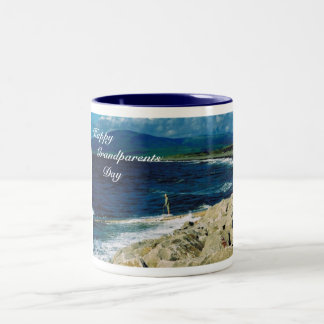 Happy Grandparents Day Grandmother Two-Tone Coffee Mug
