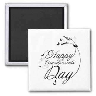 Happy grandparents day imán cuadrado