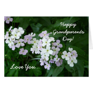 Happy Grandparents Day-Love You/Floral Card