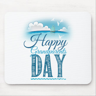 Happy grandparents day mouse pad