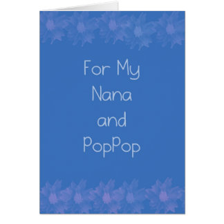 Happy Grandparents Day Nana & PopPop Card