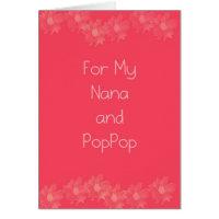 Happy Grandparents Day Nana & PopPop Card