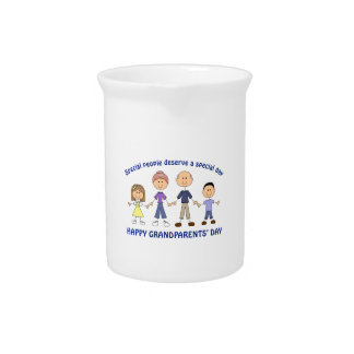HAPPY GRANDPARENTS DAY PITCHER