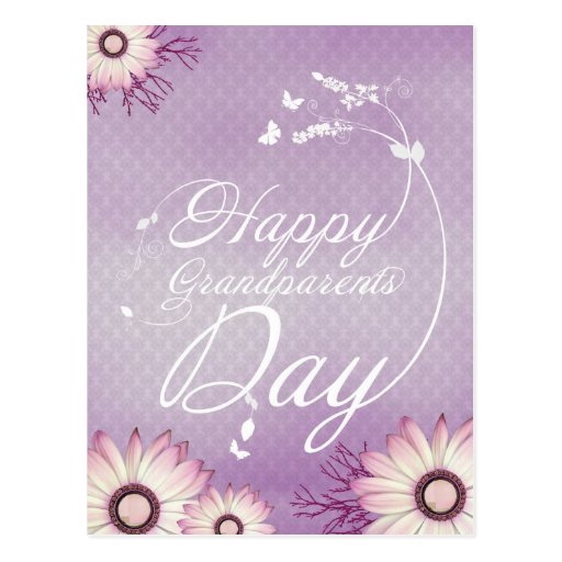 Happy grandparents day post card