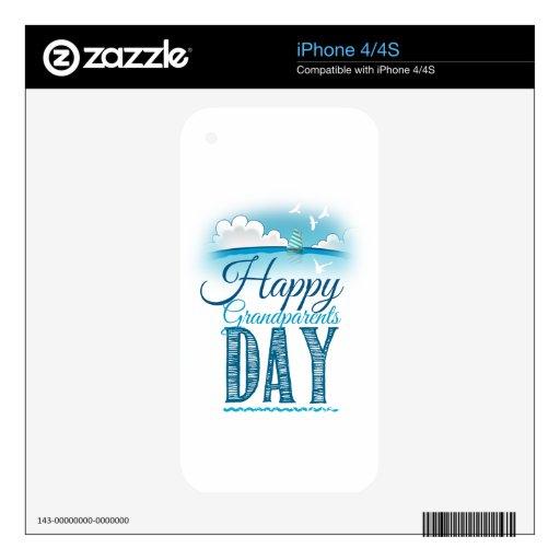 Happy grandparents day calcomanía para el iPhone 4S