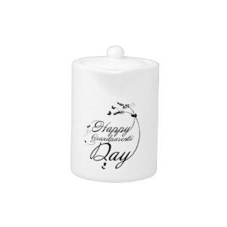 Happy grandparents day teapot