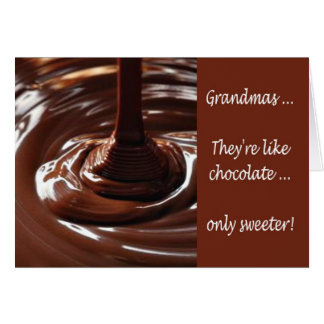 Happy Grandparents Day to Grandmother chocolate Card