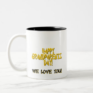 HAPPY GRANDPARENTS DAY! Two-Tone COFFEE MUG