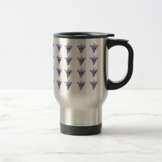 Happy Grapes 15 Oz Stainless Steel Travel Mug