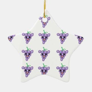 Happy Grapes Ceramic Ornament
