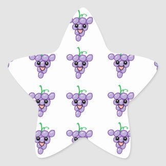 Happy Grapes Star Sticker
