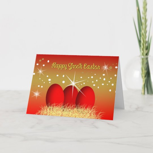 Happy greek easter red eggs holiday card zazzle happy greek easter red eggs holiday card m4hsunfo