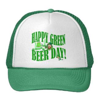 Happy green beer day mesh hats