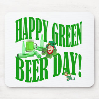 Happy green beer day mouse pad