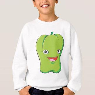 Happy Green Bell Pepper Vegetable Smiling Sweatshirt