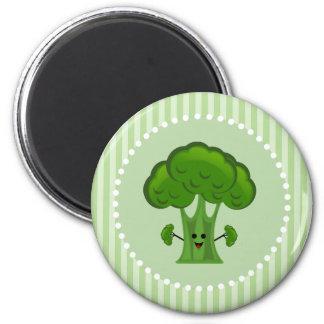 Happy Green Broccoli Magnet