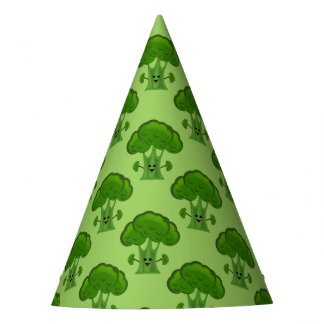 Happy Green Broccoli Party Hat