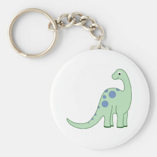 Happy Green Cartoon Dinosaur Keychain